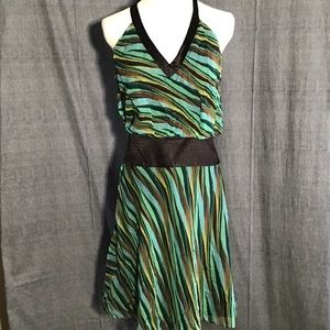 Laundry by Shelli Segal Green Brown Silk Halter 6
